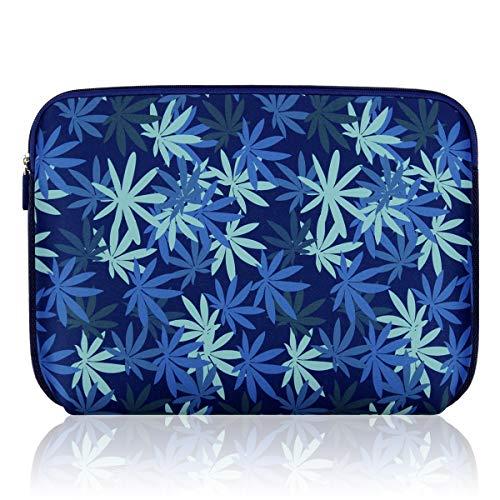 Arvok Laptop-Schutzhülle, wasserabweisend, Neopren, für Notebooks, Aktentasche, Tragetasche (38,1 cm (15 Zoll), dunkelblaues Ahornblatt)
