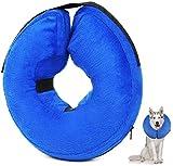 ProLeo - Collarín protector hinchable para perros, cuello protector para mascotas perro almohada de protección para la nuca, M (25 – 35 cm)