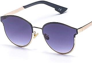 ea083743a9 Lyntop Gafas de Sol Unisex Gafas de Sol Redondas Metal Trend Gafas de Sol  Cat Eyes