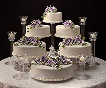 6 Tier Clear Wedding Cascade Cupcake Cake Stand  Style R600
