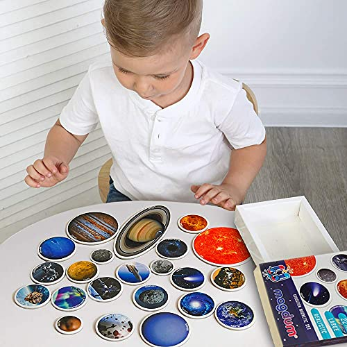MAGDUM SPACE Photo Solar System Learning Magnets for kids- Planet Astronomy...
