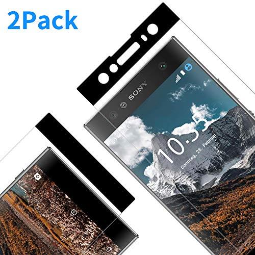 Protector Pantalla para Sony Xperia XA2 Ultra, [2 Piezas] Cristal Templado para Sony XA2 Ultra, [3D Cobertura Completa] [9H Dureza] [Resistente a Arañazos] Vidrio Templado para XA2 Ultra