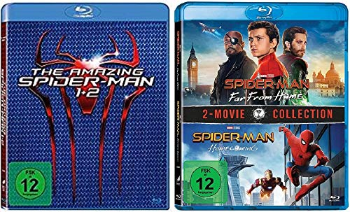 The Amazing Spider-Man 1+2 + Spider-Man Homecoming + Spider-Man Far From Home [Blu-ray Set]