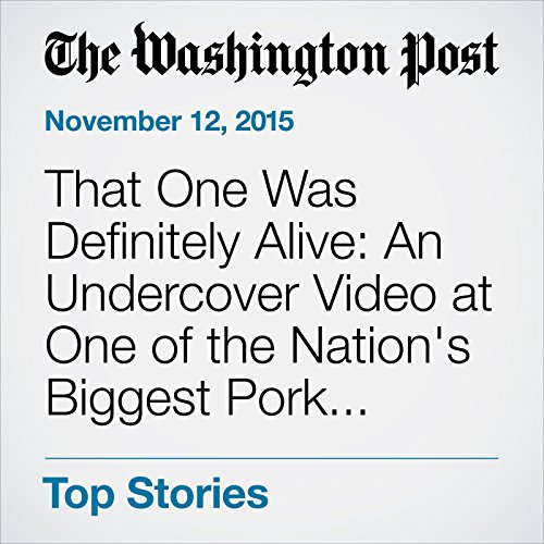 That One Was Definitely Alive: An Undercover Video at One of the Nation's Biggest Pork Processors cover art