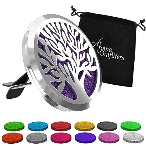 Aroma Outfitters Car Diffuser Vent Clip with 12 Colored Felt Pads....