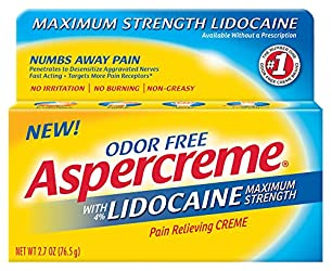 Aspercreme Pain Relieving Creme With Lidocaine, 2.7 Ounce, Pain Relieving Cream Helps Reduce and Num