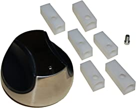 Music City Metals 02342 Plastic Control Knob Replacement for Select Gas Grill Models by Grill Chef, Kenmore and Others