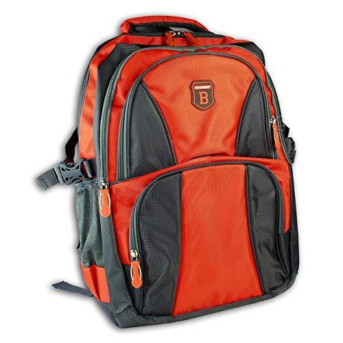 DrachenLeder Sportrucksack Nylon grau orange unisex Rucksack OTJ6530O Nylon Sporttasche