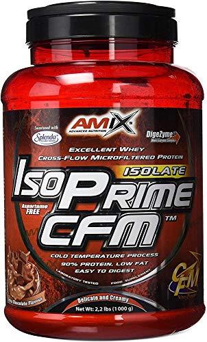 AMIX - Proteína Isolada - IsoPrime CFM Isolate Protein - 1 Kg - Gran Aporte de Aminoácidos - Contiene Enzimas Digestivas - Libre de Aspartamo - Proteínas para Aumentar Masa Muscular - Sabor Chocolate