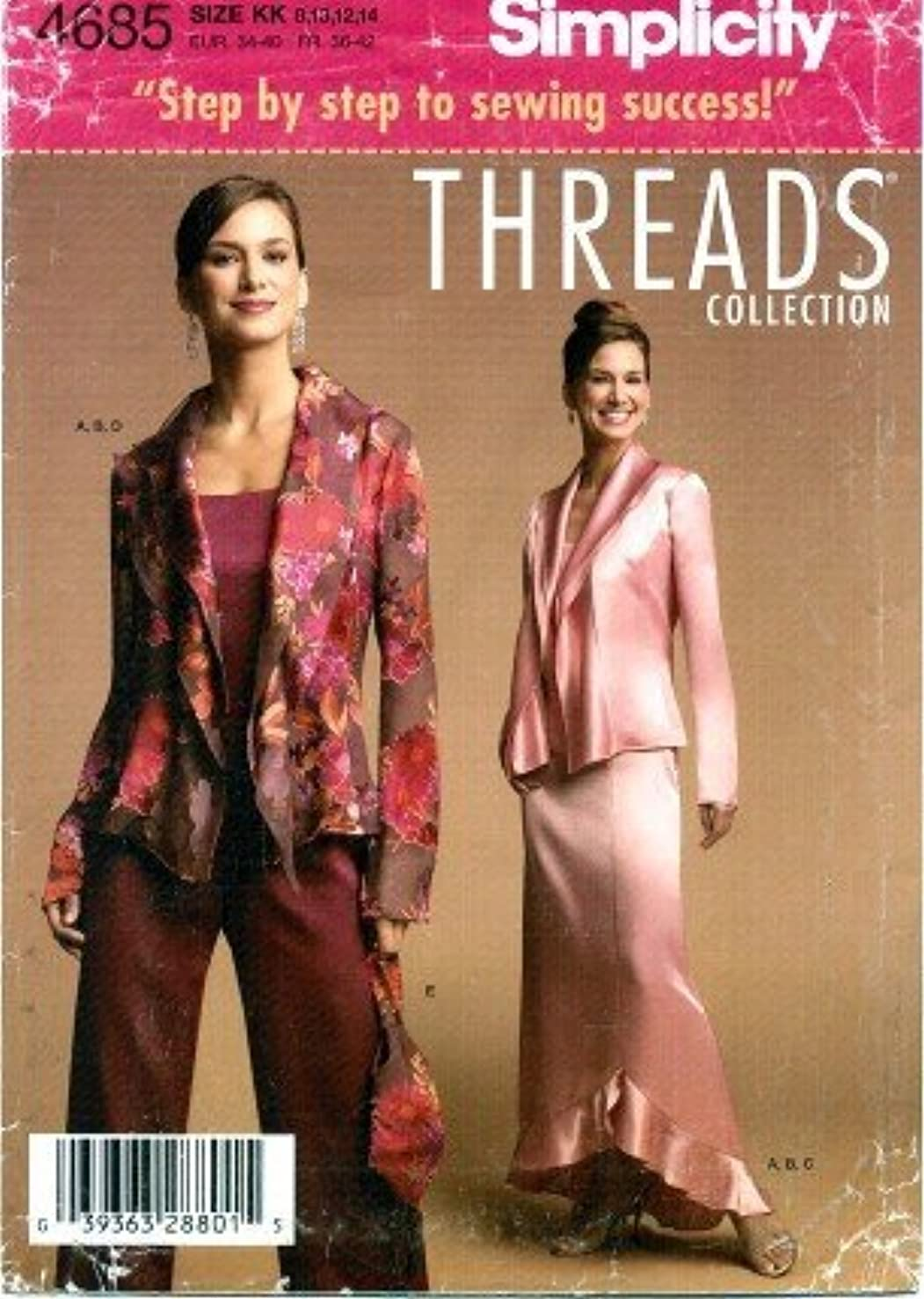 Simplicity 4685 Sewing Pattern Threads Collection Misses Camisole Jacket Skirt Pants Purse Size 8 - 14