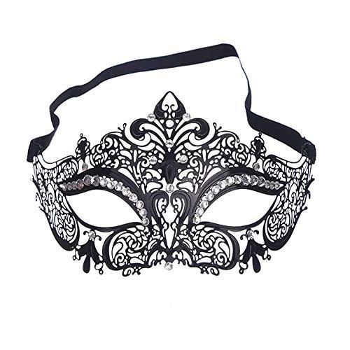 ANGAZURE-DE Maske Damen Metall Venezianischen Maskerade Prinzessin Party Metal Maske