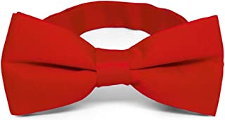 TieMart Red Band Collar Bow Tie