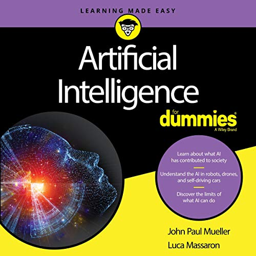 Artificial Intelligence for Dummies audiobook cover art