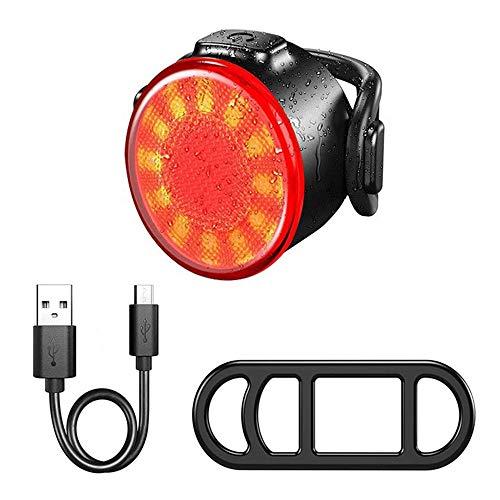 duoying Luz de advertencia de luz de señal de luz trasera duradera, LED superbrillante impermeable de carga USB para bicicleta