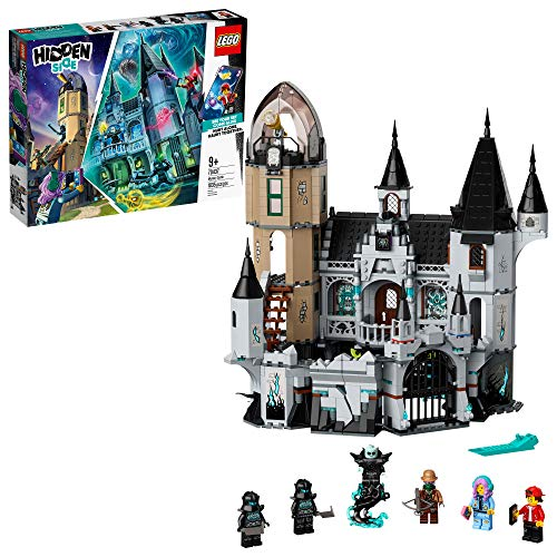 LEGO Hidden Side Mystery Castle 70437 AR Ghost Toy, Castle Model with App-Controlled Ghost Hunting Toy with Jack, Parker, Vaughn, Nehmaar Reem and 2 Shadow-Walker Minifigures, New 2020 (1,035 Pieces)