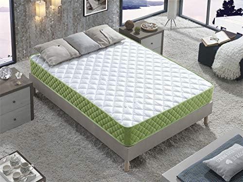 DAGOSTINO HOME BOUTIQUE COLLECTION Colchón Fenix Viscoelástico Carbono 90x190x16 cm.: Eco Friendly, Confort de Hotel, Acogida Suave con firmeza Media, ...