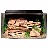 SeaClear 46 gal Bowfront Acrylic Aquarium Combo Set, 36 by 16.5 by 20', Black