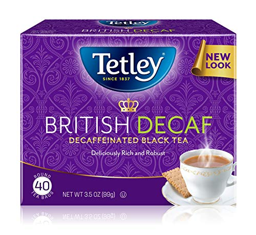 Tetley Premium Black Tea, Decaffeinated British Blend, 40 Tea Bags (Pack of 6) (Packaging may vary)