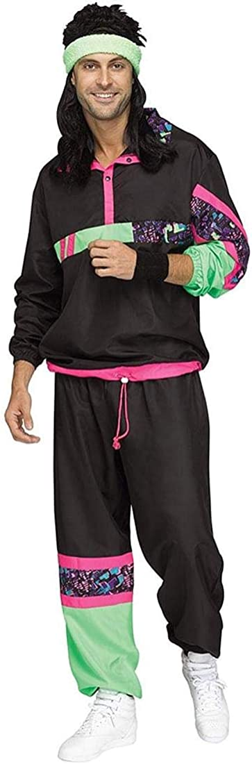 Fun World 80s Male Very popular free shipping Costume Suit Adult Track