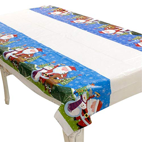 Wpj 180 cm Kerst tafelkleed wegwerp partij tafel Cover Nieuwjaar Familie Keuken Tafel Decoratie Kerstmis Ornament