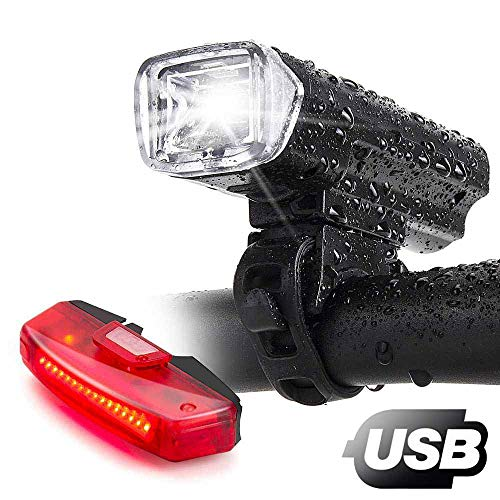 Bike LightsBike Headlight with Free Biicycle Taillight LERMX USB Rechargeable Waterproof Bicycle Lights Set Powerful Lumens LED Bike Front and Back for Adults Road Cycling Safety Flashlight