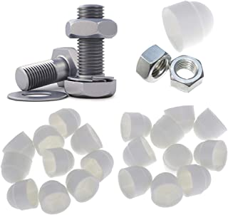 50pcs Nologo Hex Nut Plastic Thread Nut Hex Nut Nut Hex Screw Colore : White, Dimensioni : M5