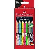 Faber-Castell 201569 Multicolor laápiz de color - Lápiz de color (Multicolor, Niño/niña, Rojo, Triangular, Alemania)