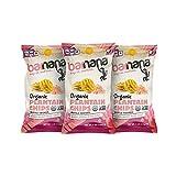 Barnana Organic Plantain Chips, Himalayan Pink Salt, 5 Ounce Bags (3 Bags Total) - Paleo, Vegan, Grain Free Chips