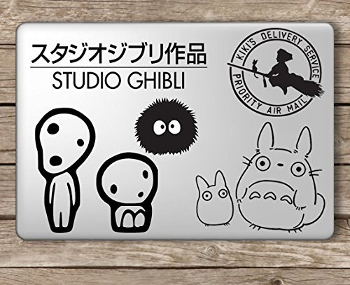 Studio Ghibli Set - Apple MacBook Laptop Vinyl Sticker Decal, Die Cut Vinyl Decal for Windows, Cars, Trucks, Tool Boxes, laptops, MacBook - virtually Any Hard, Smooth Surface