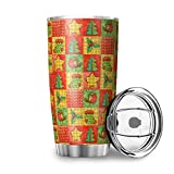 Twelve constellations Botella de agua de acero inoxidable con diseño de árbol de Navidad y...
