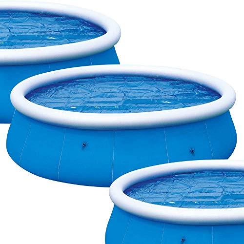 FIF Solar Pool Abdeckung für 8ft, 10ft, 12ft & 15ft aufblasbare Fast-Set-Paddel-Schwimmbäder (Solar Pool Abdeckung für 8ft Pool), Solar Pool Abdeckung für 10ft Pool
