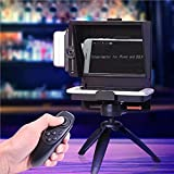 KEA YISOFINE Mini Teleprompter Portable Inscriber Mobile Teleprompter Artifact Video With Remote Control For Phone and DSLR Recording(Mobile Phone Size within 6 Inches and DSLR Lens under 82mm)