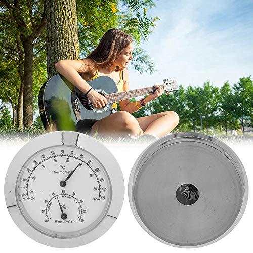 Gitaar Hygrometer Ronde Analoge Vochtigheid Temperatuur Meter Gauge Viool Draagbare Thermometer