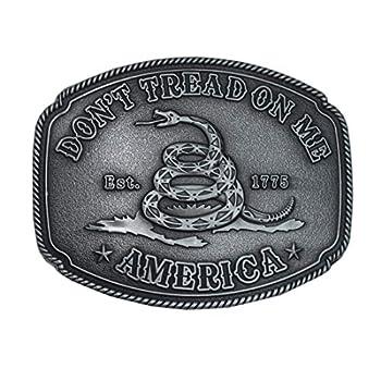 American Gadsden Don t Tread On Me 1 1/2  4CM Replacement Belt Buckles Petwer 1 1/2 inch