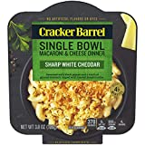 Cracker Barrel Single Bowl Macaroni & Cheese Dinner, Sharp White Cheddar Seasoned with garlic and chives. Topped with toasted bread crumbs Perfect for a meal or side dish