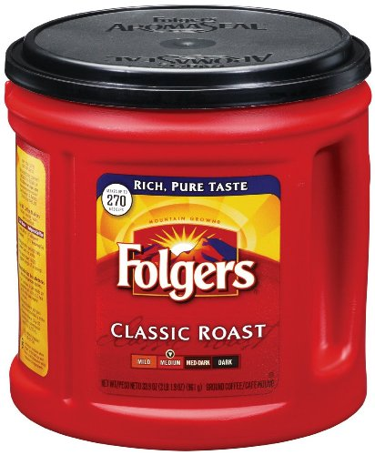 Folgers Coffee Classic Roast - 33.9 Ounce - Makes 270 Cups - 1 Unit