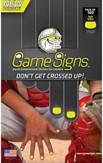 Baseball/Softball Catcher Fingernail Bright Colored Game Sign Stickers for Pitchers See Signals More Clearly (3 Colors, 100 Stickers/Pack)