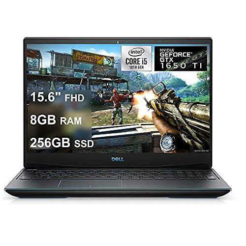 Ordinateur portable de jeu phare Dell G5 15 Écran 15.6' FHD WVA Intel 10 cœurs de 4e génération i5-10300H (Beat I7-8850H) 8 Go de RAM 256 Go SSD GeForce GTX 1650 Ti 4 Go USB-C rétroéclairé Win10