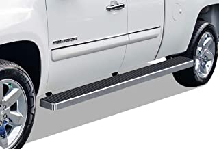 APS iBoard Running Boards (Nerf Bars Side Steps Step Bars) Compatible with 1999-2013 Chevy Silverado GMC Sierra 1500 2500 Double Cab 6.5ft Bed & 2001-2014 2500HD 3500 (Silver 6 inches Wheel to Wheel)