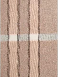 Nido Notte Italia Luxury Fringed Decorative Oversized Throw Blanket Toss Striped Pattern in Shades of Brown Gray Cream Pink