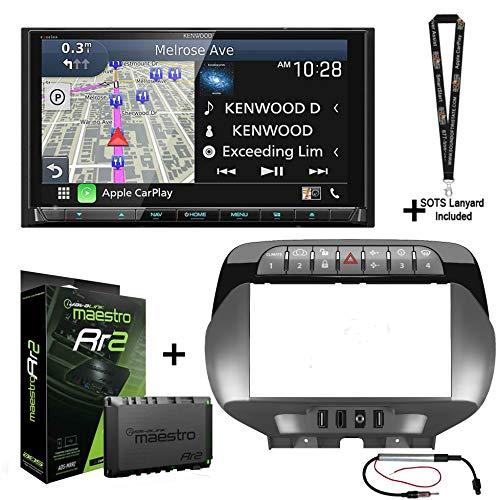 Kenwood Excelon DNX997XR Navigation Receiver + ADS iDatalink KIT-CAM1 Compatible with 2010-15 Chevrolet Camaro + ADS-MRR2 + Sound of Tri-State Lanyard Bundle