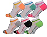 BestSale247 12 Paar Damen Mädchen Sneaker Socken Füßlinge Baumwolle (35-38, Muster 1)