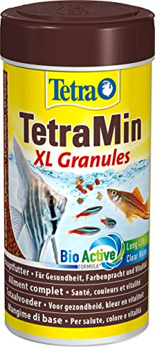 TetraMin XL Granules (Hauptfutter in Granulatform für alle größeren Zierfische wie Salmler und Barben, plus Präbiotika für verbesserte Futterverwertung), 250 ml Dose