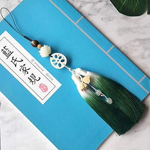 sddfor Mo Dao Zu Shi Bodhi Lotus Fringed Pendant, Keychain Pendant Handbag Key Ring Tassel Pendant