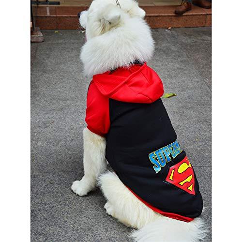 N/ Ropa para Perros Productos para Mascotas Ropa De Invierno para Perros Abrigo Chaqueta Sudadera con Capucha Suter Superman Ropa para Perros para Perros Disfraz Monos para Perros