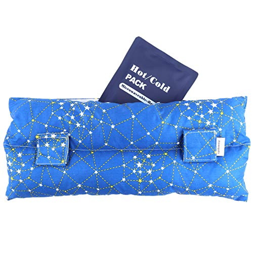 Hysterectomy Seatbelt Pillow with Pocket for Cervical Cancer Uterine fibroids Abdominal Surgery Abdomen Healing Protector Organ Transplants C-Section Recovery Car Seat Belt Pad (Cobalt Blue)