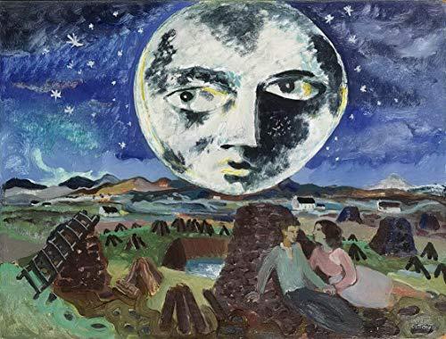 Berkin Arts Gerard Dillon Giclee Auf Leinwand drucken-Berühmte Gemälde Kunst Poster-Reproduktion Wand Dekoration(Der Mond auf dem Sumpf) Große größe 80 x 60.9cm