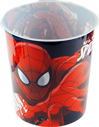 Spiderman Papierkorb für Kinderzimmer, Krabbelmotiv