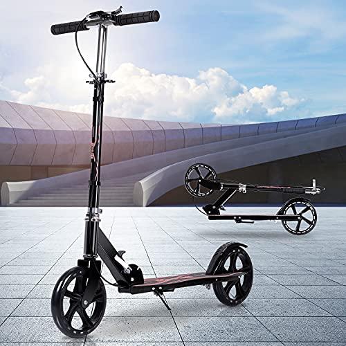 キックボード キックスクーター 子供 大人用 折り畳み式 ハンド/フットブレーキ 3段階高さ調節可能 8インチホイール 立ち乗り式二輪車 耐荷重150kg 持ち運び便利 日本語説明書