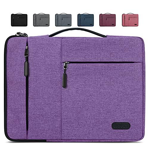 Lubardy Funda Portátil Compatible 13-14 Pulgadas Laptop Impermeable Maletín para Funda Ordenador Portátil Protectora Prueba Golpes Compatible Macbook Air/Pro, HP, DELL, Samsung, etc Morado